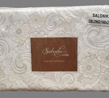 Elegant Cream Floral Tablecloth