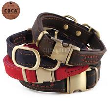 Heavy Duty Designer Dog Collar - 100% Genuine Cow Leather Puppy Cat Soft Suede