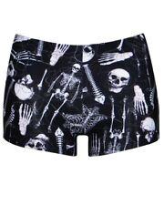Skeletons Skulls Bones Ribcage Heart Anatomy Printed Summer Shorts Hot pant