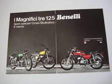 advertising Pubblicità 1973 BENELLI 125 2C/SPORT/CROSS