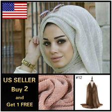 6 x 3 ft Purl Cotton Blend Viscose Maxi Crinkle Hijab Scarf Soft Muslim
