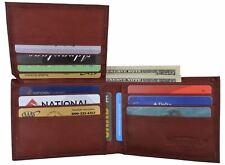 Basic Bifold Men's Wallet Flip Up Id Window 9 Cards 2 Receipt Pockets Billfold