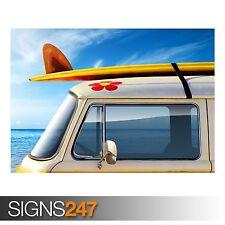 VOLKSWAGEN VAN (AA940) CLASSIC CAR POSTER - Photo Poster Print Art * All Sizes