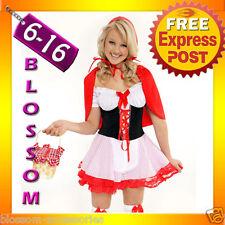 894 Little Red Riding Hood Fancy Dress Costume + Cape