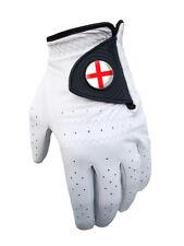 England Mens Cabretta Golf Glove + Magnetic Ballmarker - Leather - English