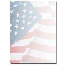 Flag Patriotic Stationery Letterhead - 25 or 100pk