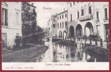 TREVISO CITTÀ 73 CANALE Cartolina viaggiata 1902