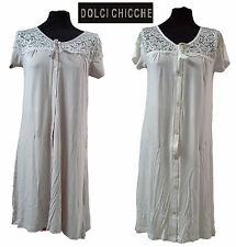 Camicia da notte, Canotta, aperta a mezza manica.  DOLCI CHICCHE - 2415.