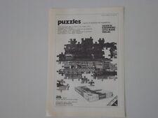 advertising Pubblicità 1971 PUZZLE RAVENSBURG