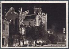 VERONA CITTÀ 142 NOTTURNO Cartolina FOTOGRAFICA viaggiata 1942