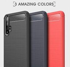 Housse etui coque silicone gel carbone pour Huawei Nova 5T + film ecran
