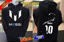 Lionel Messi barcelona Pullover Hoodie Black Front & Back