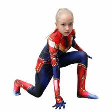 Cosplay Girl's Captain Marvel Superhero Costume Plugsuit Zentai Suit S, M, L, XL