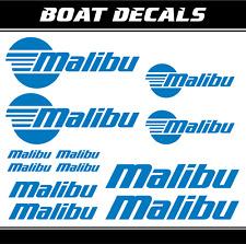 Malibu boats stickers pegatinas para barco calcomanías náutico boat marina