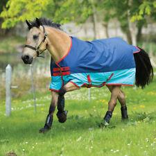 Horseware Mio Turnout Medium 200g - Dark Blue, Aqua blue and Red