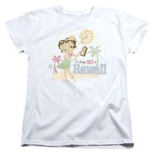 Betty Boop Cartoon Hot In Hawaii Women's T-Shirt Tee