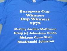Glasgow Rangers Vincitori Europeo 1972 T-shirt & camicie di sudore Taglia Inc 4XL & 5XL