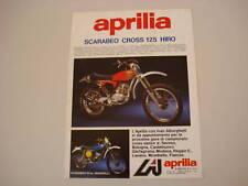 advertising Pubblicità 1976 APRILIA SCARABEO CROSS 125