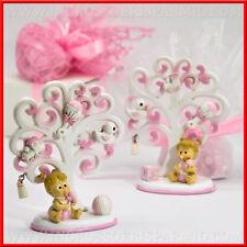 Memoclip+calamite albero battesimo bimba rosa nascita,battesimo,1° compleanno