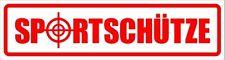 Sportschütze - Magnetschild - maf0041 für KFZ und sonstige Metalloberflächen