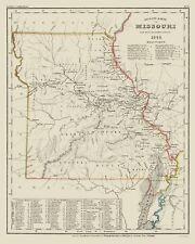 Old State Map - Missouri - Meyer 1845 - 23 x 28.78