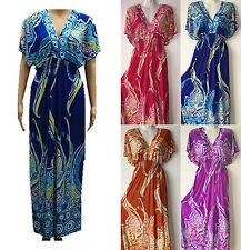 Women Sundress PLUS Size Dress Summer Beach Evening Long Maxi   2X 3X 4X