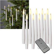 10er Set LED Kerzen mit Fernbedienung inkl Cliphalterung für Christ-Baum-Montage