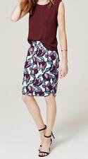 Ann Taylor LOFT Wild Orchid Pencil Skirt Various Sizes Plum Preserve Color NWT