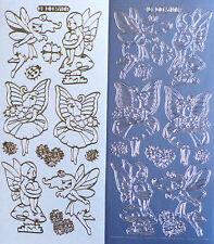 GARDEN FAIRIES Fairy Mushrooms PEEL OFF STICKERS Flying Ladybirds Flowers