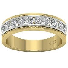 Round Diamond Men's Wedding Ring 1.00Ct Channel Set 14Kt Two-Tone Gold Appraisal