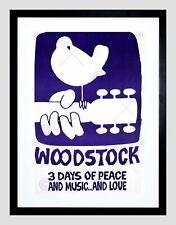 85764 FESTIVAL WOODSTOCK PEACE LOVE DOVE GUITAR BIRD Decor WALL PRINT POSTER CA