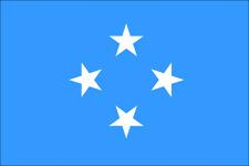 MICRONESIA FLAG GLOSSY POSTER PICTURE PHOTO palikir weno chuukese pohnpeian 1504