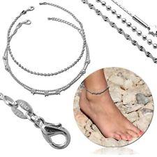 Fußkette 925 Sterling Silber Knöchel Fußkettchen Damen Fuß Kette Echtschmuck