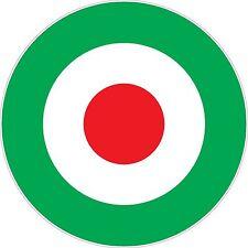 Raf cocarde italien vert vinyle autocollants choix de tailles scooter the who vespa