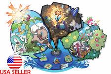 "Pokemon Map Sun Moon 36"" x 24"" Large Wall Poster Print Fan Art Anime #02"