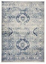 Oriental Vintage Persian Aubusson Navy & Ivory Area Rug 5' Round, 5'x7', 8'x10'