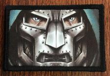 Dr Doom Mask Morale Patch Marvel Tactical Military Army Badge Hook Flag USA