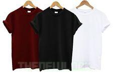 Plain Gildan Algodón T camisa Top Tee Regalo Vacaciones Camiseta Verano Pesado Para Hombre Para Mujer