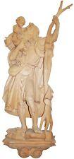 San CRISTOFORO in legno Naturale da Parete  St. CHRISTOFER woodcarved for Wall