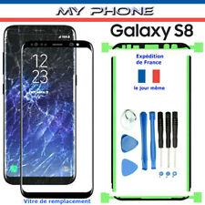 Pour Samsung Galaxy S8 Vitre Verre NOIR Avant écran + Kit de Remplacement G950
