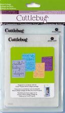 CUTTLEBUG prägung ordner 4er set - WORT COLLAGE - 2001215 REDUZIERT