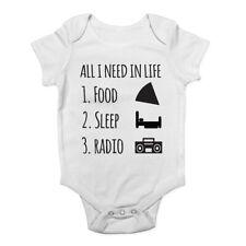 Todo lo que necesito en la vida es sueño de alimentos mi radio Chicos Chicas Bebé Chaleco Bodysuit