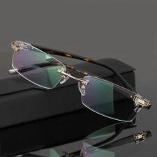 Rimless Spectacles Eyeglass Frames Glasses Prescription Rx Designer Business J52