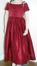 Burgundy Maroon Bridesmaids Flower Girl Dress Little Girls Sequins Party *BNWT