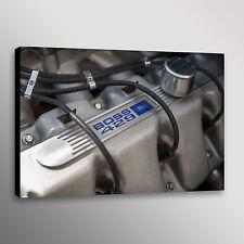 Ford Mustang Boss 429 Motor Engine Car Automotive Photo Wall Art Canvas Print