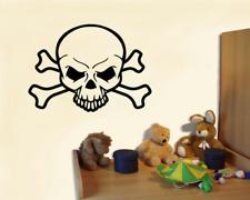 Totenkopf mit X-Knochen Wandtattoo Kinderzimmer XXXL  25 Farben 10 Größen
