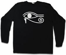 Eye of Ra II Sign Manica lunga T-shirt HORUS OCCHIO HORUS OCCHIO Falcon Sun God Dio del Sole