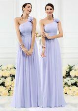 Cadbury Purple Chiffon Formal Wedding Bridesmaid Party Evening Prom Dress