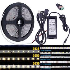 5M SMD RGB 3014 3528 5050 5630 300 600LEDs Flexible Strip Light Waterproof DC12V