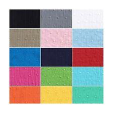 Plain Solid Coloured Cotton Dobby Fabric Dressmaking (135cm Wide) (JL)